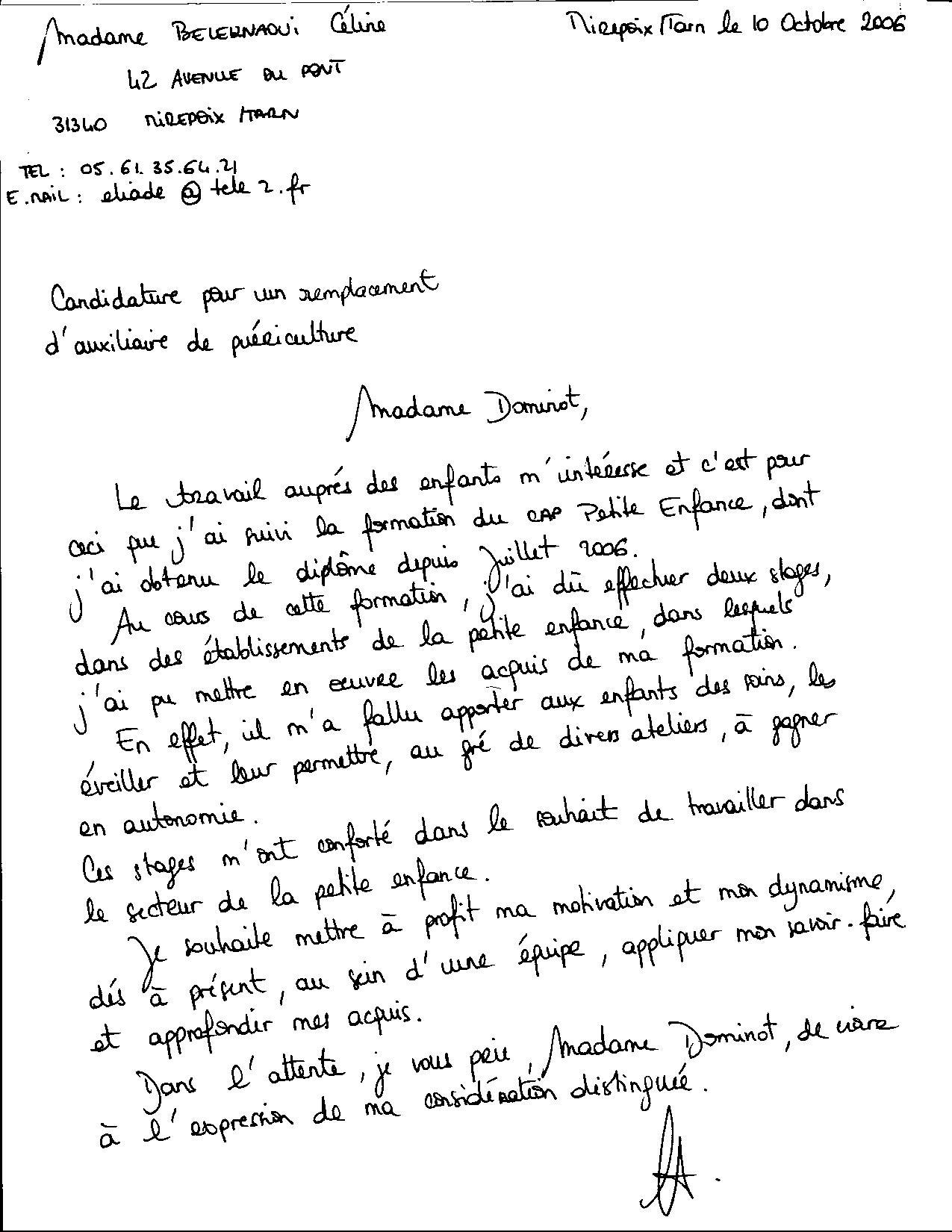 Exemple De Lettre De Motivation Pour Un Poste En Maison De Retraite Document Juridique